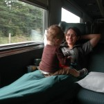 Day 1 OnTheTrain 150x150 A toddler bike touring adventure