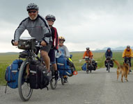 The McFerrins Family of five on a year long cycling journey riding two tandems and a trail-a-bike.
