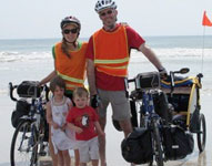 The Murrs Florida to Oregon on bikes with 2 toddlers!