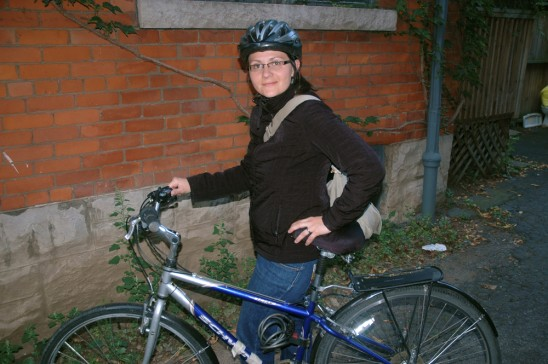 Heidi Commute 548x364 The origins of a bike touring family (Part 1)